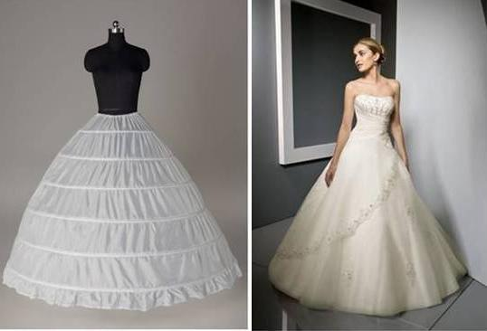 Two hoops mermaid petticoat suits dresses with slim body and a small train.