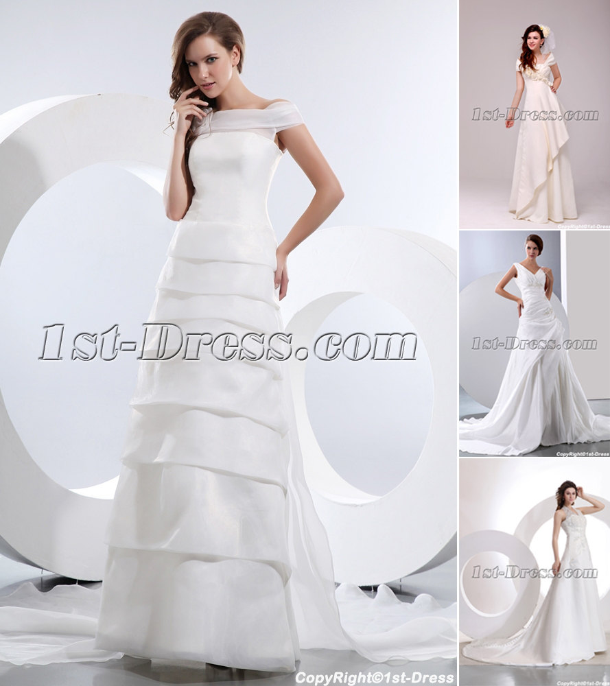 Cheap Beautiful Mature Bridal Gowns