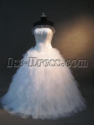 2012 Strapless Ball Gown Wedding Dresses IMG_2323