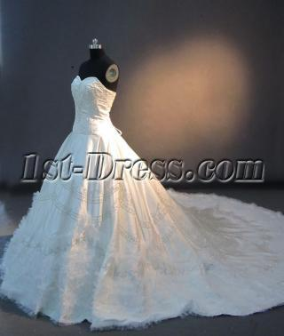 2013 Haute Couture Wedding Dresses with Cathedral Train IMG_2670