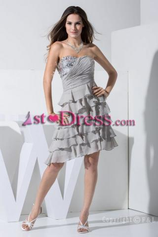 2013 Gray Short Prom Dress WD1-001