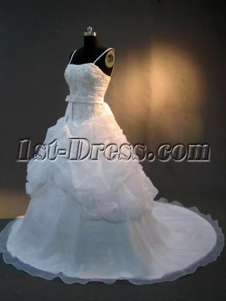 Beautiful Spaghetti Sraps Wedding Gown IMG_2775