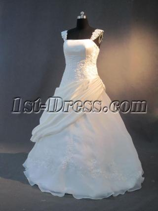 Cheap Cap Sleeves Quince Gown Dress IMG_2835