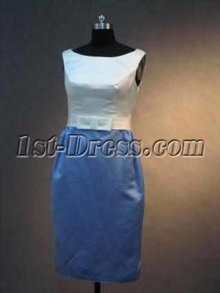 Cheap Formal Column Knee Length Short Mother of Bride Dress IMG_2790