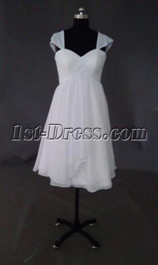 Cheap Short Chiffon Bridal Gown IMAG0606