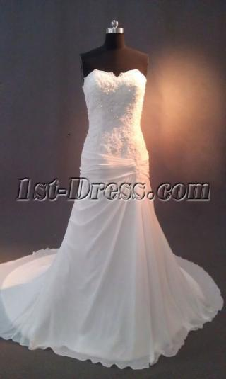 Chiffon Column Beach Casual Bridal Gowns IMAG0621