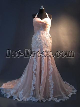 Criss-cross Back Mermaid Elegant Bridal Gown IMBG_2412