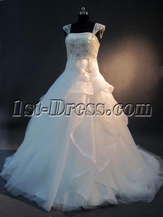 Detachable Cap Sleeves 2013 Bridal Gown IMG_2594