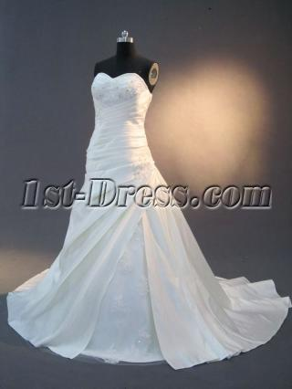 Drop Waist Corset Mature Bridal Gown IMG_2507