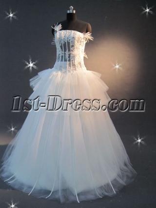 Illusion Body Mature Wedding Dresses IMG_2196