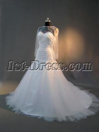 Illusion Long Sleeves Mature Bridal Gown IMG_2840