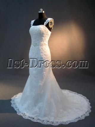 Ivory Lace Sheath Wedding Dress IMG_2786
