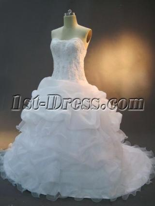 Ivory Plus Size Ball Gown Wedding Dress IMG_2392