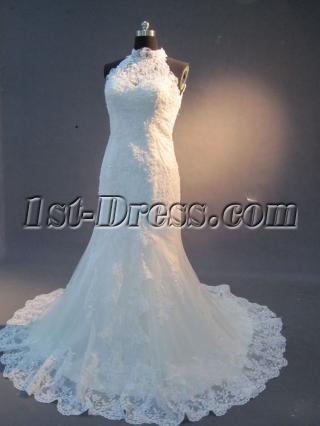 Lace Wedding Dresses with Keyhole Back IMG_2255