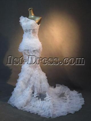 Luxurious Sexy Beach Mermaid Bridal Gown IMG_2757