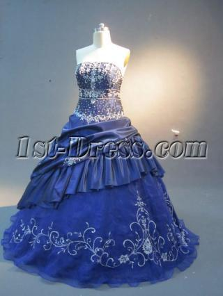 Navy Plus Size Quince Dress with Jacket IMG_2280