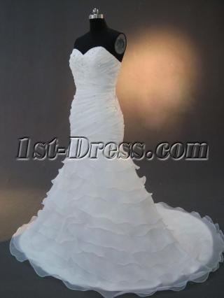 Organza Mermaid Bridal Gowns IMG_2467