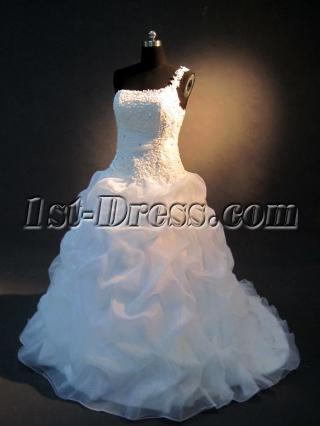 Plus Size Lace One Shoulder Bridal Gown IMG_2341