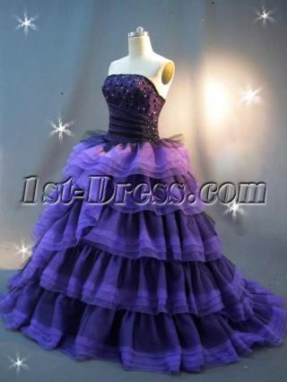 Purple and Black Princess Quinceanera Dress IMG_2433