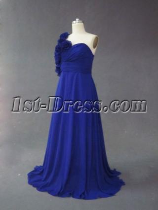 Royal Blue One Shoulder Plus Size Prom Dess IMG_2495