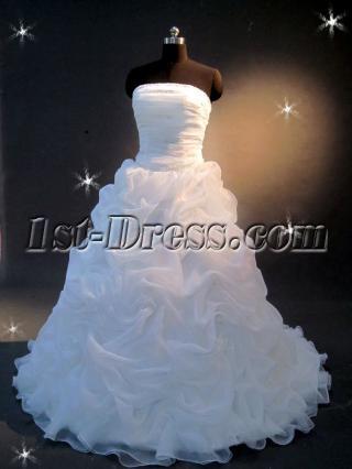 Ruffle Ball Gown Wedding Dress IMG_2192