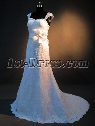 Simple Lace Wedding Dresses with Sleeves IMG_2609