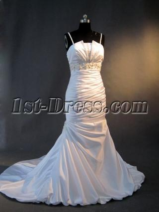 Spaghetti Column Elegant Bridal Gown IMG_2782
