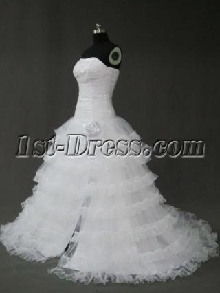 Split Organza Ball Gown Dress IMG_2484