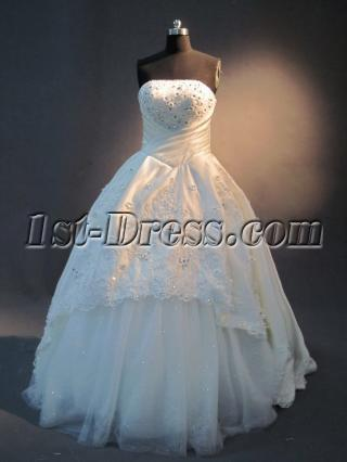 Strapless Ivory Cheap Quinceanera Dress IMG_2415