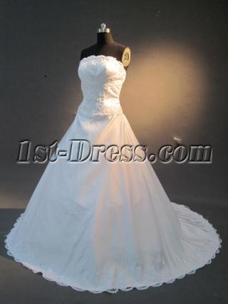 Strapless Princess Bride Wedding Dress IMG_2260