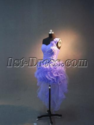 Super One Shoulder High-low Sweet 16 Dresses IMG_2662