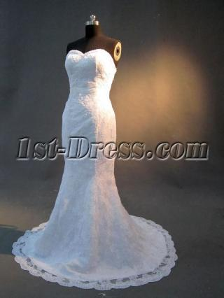Sweetheart Lace Sneath Bridal Gown wtih Strapless IMG_2852