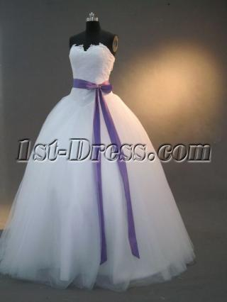 White 15 Quince Dress with Sash IMG_2512