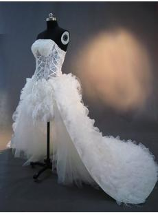 2012 Mini Detachable Illusion Beach Wedding Dress IMG_2429