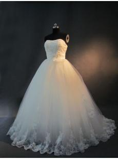 2012 Strapless Wedding Dress Ball Gown IMG_2583