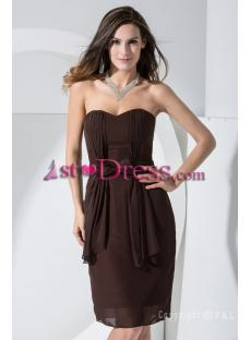 2012 Classic Brown Short Prom Dress WD1-002