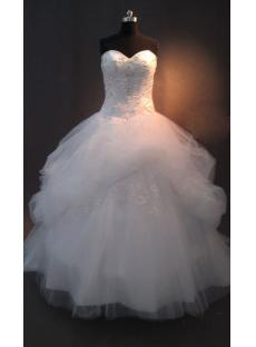 2013 Romantic Beaded Ball Gown Wedding Dress with Train IMAG0618