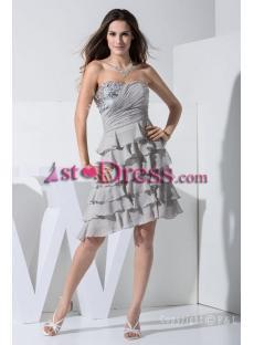 2013 Gray Short Prom Dress WD1-001