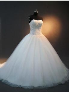Basque Beautiful Bridal Ball Gowns with Train IMG_2442