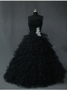 Beautiful Black Best Quince Gown Dress IMG_2623