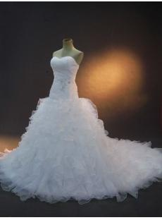 Beautiful Luxurious Wedding Dresses with Train IMG_2331