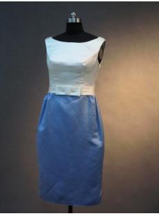 Cheap Formal Column Knee Length Short Mother of Bride Dress IMG_2790
