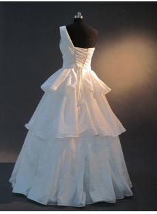 Cheap One Shoulder Taffeta Quinceanera Gown IMG_2503