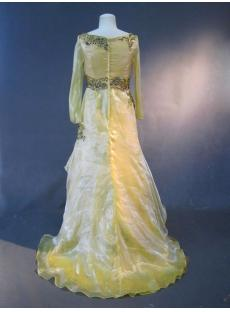 Daffodil Long Sleeves Modest Mother of Bride Dress IMG_2555