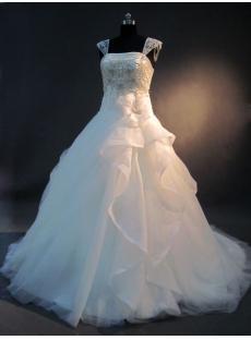 Detachable Cap Sleeves 2013 Bridal Gown IMG_2594