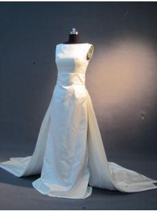 Detachable Modest Column Bridal Gown IMG_2309