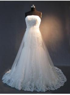Detachable Train Lace Mermaid Bridal Gown IMG_2363