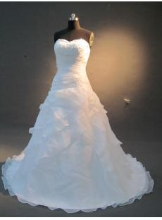 Elegant Simple Organza A-line  Wedding Dress IMG_2244