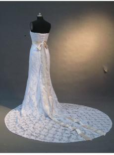 Formal Simple Lace Wedding Dress IMG_2311