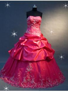 Fuchsia Taffeta Floor Length Best Quinceanear Gown Dress IMG_2240